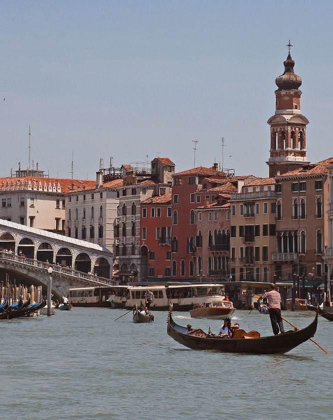 Hotell i Venedig vid Canal Grande